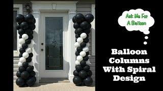 Balloon Columns With Spiral Design