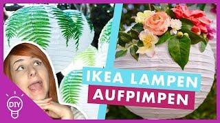 IKEA Papierlampen aufpeppen // Schnell & Günstig
