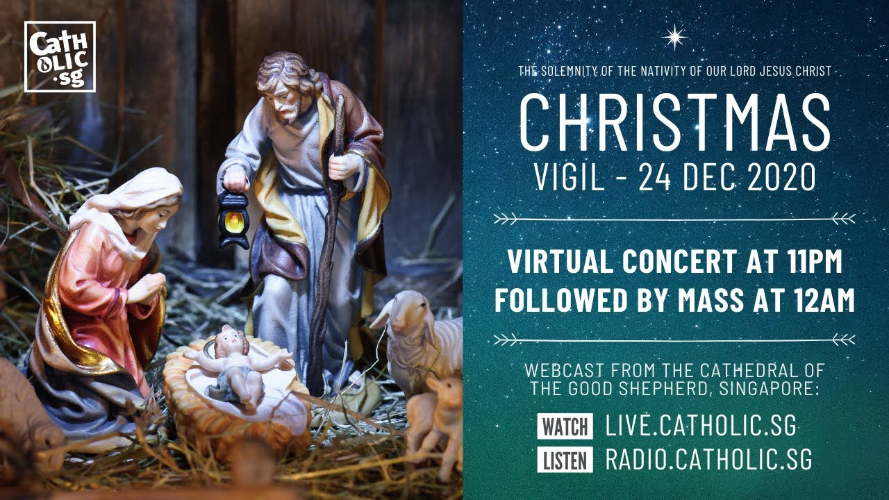 Catholic Mass Today Live Online 24th December 2020 – Christmas Vigil 2020
