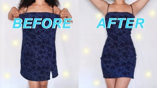 DIY FITTED DRESS THRIFT FLIP// How To Make A Dress Loose To Tight