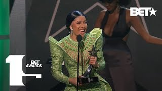 Cardi B Slays As She Snags Album Of The Year Award At The 2019 BET Awards!