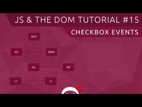 JavaScript DOM Tutorial #15 - Checkboxes & Change Events