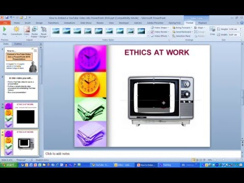 How To...Embed a YouTube Video into a PowerPoint 2010 Presentation