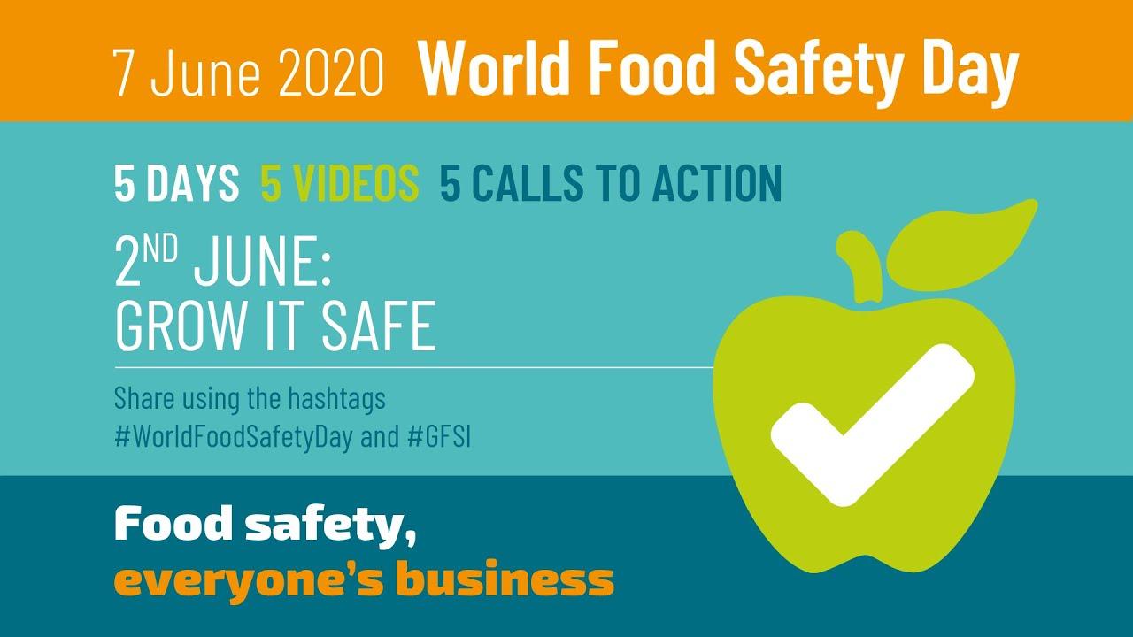 """Grow it safe"" #WorldFoodSafetyDay 2020"