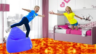 The Floor Is Lava With Amelia And Akim!