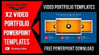 Video Portfolio PowerPoint Templates