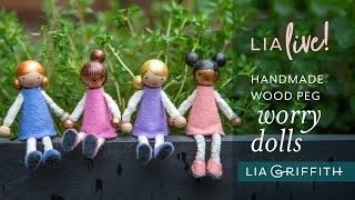 DIY Wood Peg Worry Dolls | We're Here For You Wednesday