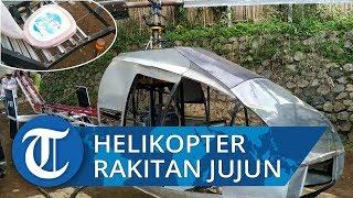 Kursi Pilot Helikopter Rakitan Jujun Berwarna Merah Muda dan Bergambar Kartun