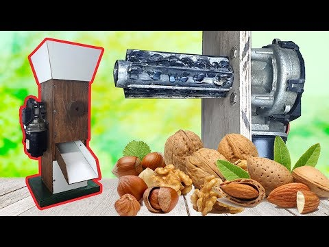 DIY Motor Powered Nut/Walnut Cracker - Motorlu fındık ve ceviz kırma makinesi