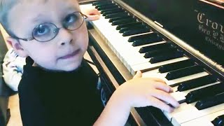 Blind 6-Year-Old Pianist Becomes an Internet Star