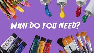 Essential Acrylic Painting Supplies! (Beginners)