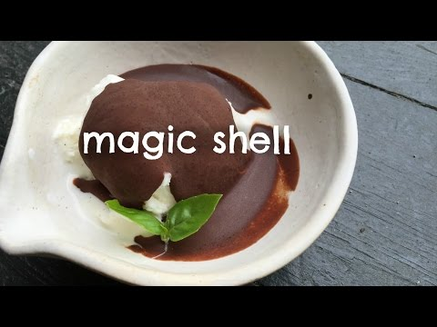 Video How to Make Magic Shell -Self-hardening Chocolate Sauce Recipe