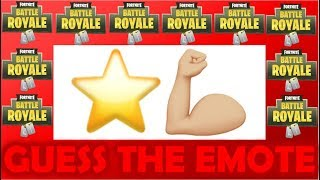 CAN YOU GUESS THE FORTNITE EMOTE BY THE EMOJI?