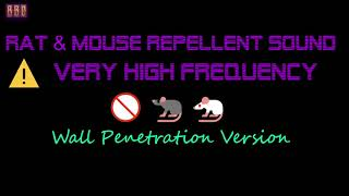 ⚠️(Wall Penetration Version) 🚫🐀🐁 Rat & Mouse Repellent Sound Very High Frequency (9 Hour)