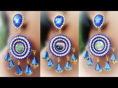 Make Unique Paper Earrings   Saraswati Puja Special Earrings   Handmade jewelry   earrings making