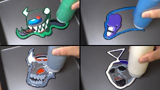 FNF icons Pancake art - Imposter v3, Sonic exe endless, Tricky phase 5, Teletubbies