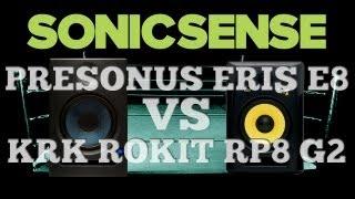 PreSonus Eris E8 Vs. KRK Rokit RP8 G2 - Studio Monitor Comparison And Review