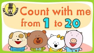 Number song 1-20 for children   Counting numbers   The Singing Walrus
