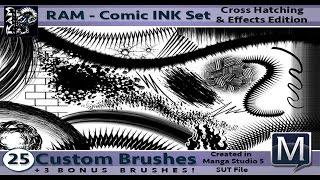 Manga Studio 5 - Custom Inking Brushes by RAM