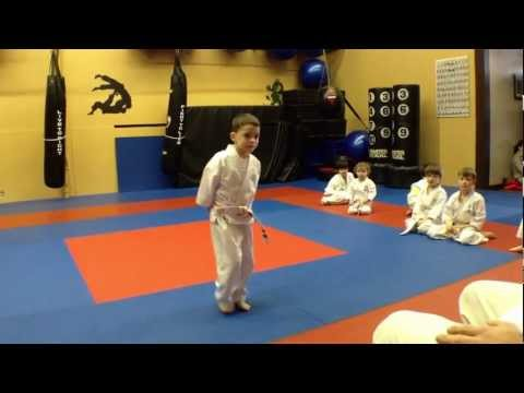 a typical children s karate class ages 4 7 at arashi do mart