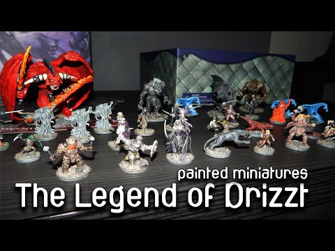 The Legend of Drizzt pained miniatures