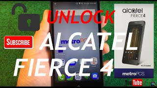 HOW TO UNLOCK METROPCS ALCATEL FIERCE 4 TO ALL GSM NETWORKS!