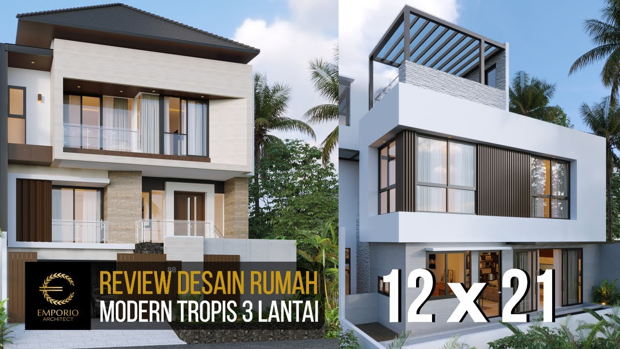 Video 3D Desain Rumah Modern 3 Lantai Bapak Liu II di Jakarta Barat