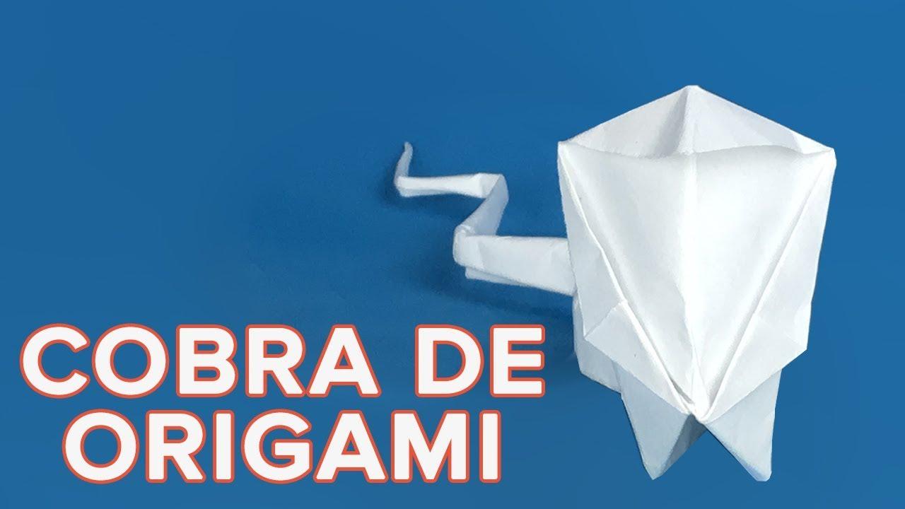 Cómo hacer una cobra de origami | Papiroflexia fácil para niños