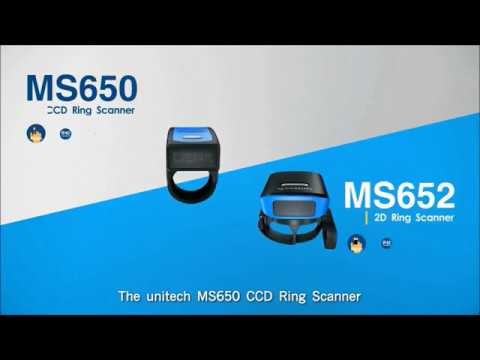 Unitech MS652 Wearable 2D Ring Barcode Scanner video thumbnail