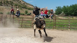 Gary Leffew Bull Riding School Student Bull Riding Compilation (Part 1/2)