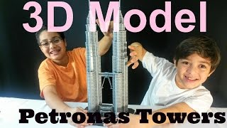 3D TOY MODEL Of  PETRONAS TWIN TOWERS Of MALAYSIA
