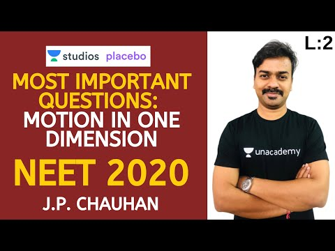 L:2 Most Important Questions: Motion in one dimension - Part 02 | Target NEET 2020 | J.P. Chauhan