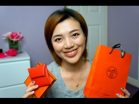 Hermes Bastia Coin Purse Unboxing/what fits?