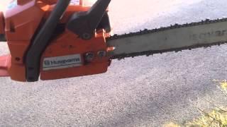 "genuine husqvarna 136 husky chainsaw 15"" bar for sale ebay"