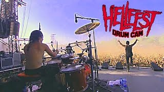 DAGOBA Franky COSTANZA HELLFEST 2014 DRUM CAM It's All About Time