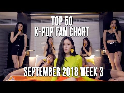 Top 50 K-Pop Songs Chart - September 2018 Week 3 Fan Chart
