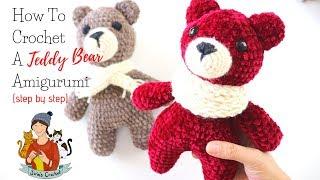 Crochet Simplest Amigurumi Teddy Bear For Beginners Step By Step
