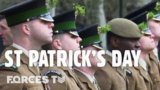 Irish Guards Celebrate St Patricks Day   Forces TV