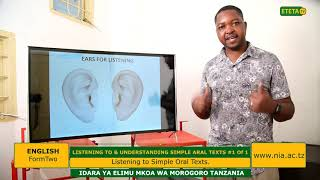 ENGLISH_FII_LISTENING TO VARIOUS SIMPLE ORAL