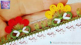 376.model Yepyeni muhteşem sonsuzluk ile Keloğlan iğne oyası modeli anlatımlı yapılışı Flower DIY