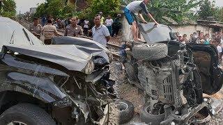 Identitas 3 Orang yang Tewas dalam Kecelakaan Pajero Vs Kereta Sri Tanjung di Surabaya