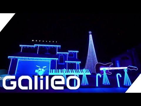 Crazy Weihnachts-Lichtshow in Kalifornien | Galileo | ProSieben