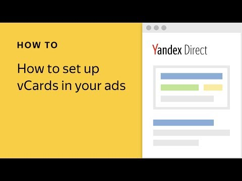 How to set up vCards in your ads