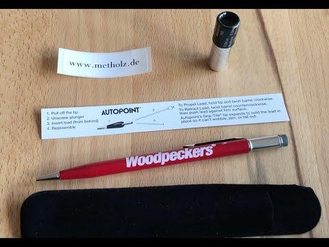 www.metholz.de Woodpeckers Druckbleistift 0,9mm Füllanleitung und Funktion Pencil-9