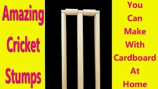 How To Make Cricket Stumps With Cardboard At Home DIY