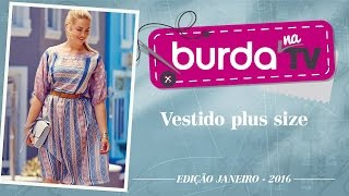 burda na TV 74 – Vestido estampado plus size