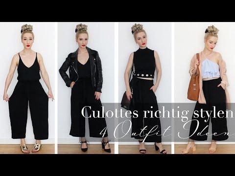 Culottes richtig stylen - 4 Outfit Ideen   Lookbook