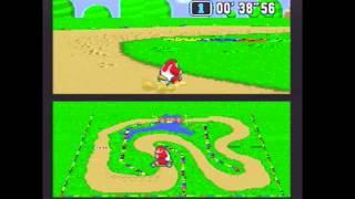"Super Mario Kart (NTSC) Time Trial : Donut Plains 1 (DP1) - 1'08""54 NBT (World Record)"