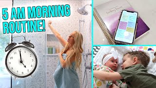 MY 5AM MORNING ROUTINE WITH A NEWBORN!