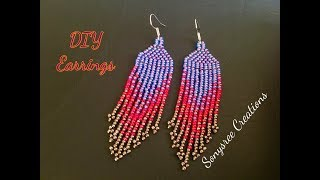 Native American Style Earrings Very Clear Tutorial For Beginners